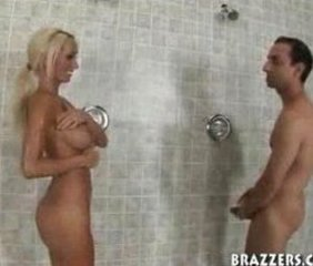 Amazing Big Tits Blonde Hardcore MILF Showers