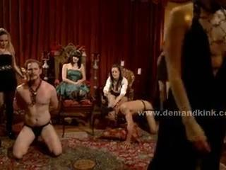 Man sexual relations slave in middle of mistress ritual is imitation to fuck in s