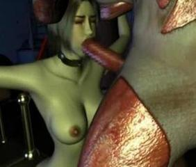 Hot 3D girl gets fucked and knocked up by an ugly man from another planet inside his spaceship!