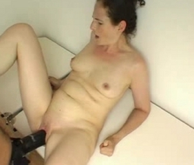 Wife takes huge strapon dildo