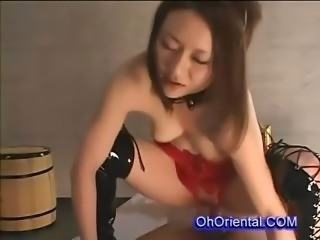 Amazing Asian Latex Teen