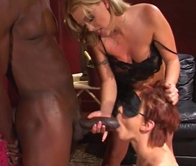 Blowjob Fetish Interracial  Threesome