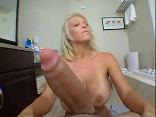 Big Tits Blonde Blowjob  Pov