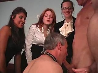BDSM: Misstress force to suck cock to slave
