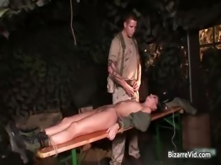 Four hot sexy sizzling army slut gets part2