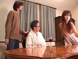 Hairy Japanese Anal Cream Pie Threesome