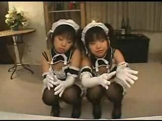 Asian Japanese Maid Teen Twins Uniform