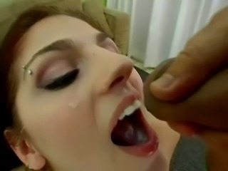 Facial Interracial  Swallow