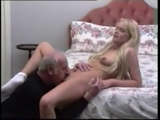 Blonde Girl On touching old Man by TROC