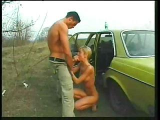 Amateur Blowjob Car European German Outdoor Public Teen