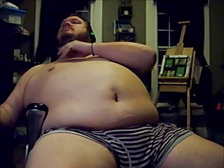 Fat Boy Beats His Meat