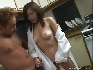 Japanese Slut With Perfect Tits Seduces Her Man