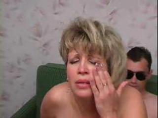 Amateur Mature Mom Old and Young Riding Russian