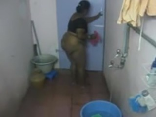 Bathroom  HiddenCam Indian Mom Voyeur