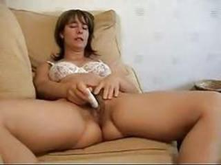 Hairy Masturbating Mature Toy