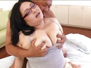 Asian  Big Tits Glasses  Natural