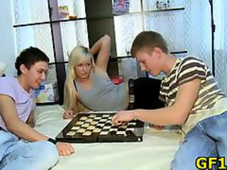 Girlfriend Teen Threesome