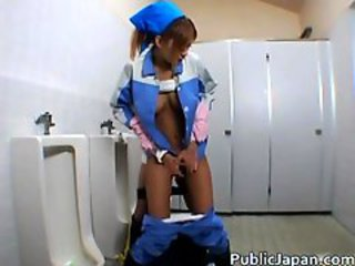 Asian Japanese Public Teen Toilet Uniform