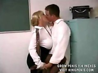 Big Tits Kissing MILF Teacher