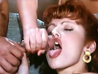 Cumshot European French  Redhead Swallow Vintage