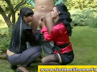 Blowjob Clothed  Outdoor Threesome