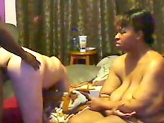 Amateur  Ebony Homemade  Threesome