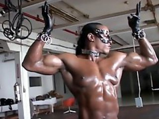 Ebony Fetish  Muscled Oiled Sport