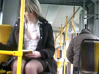 Amateur Bus Public Teen