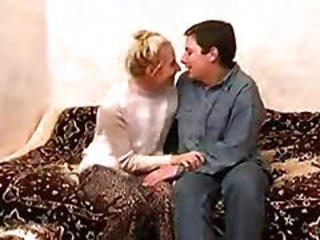 Slim Russian Mature Lady Fucking With A Boy