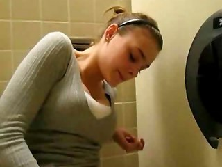 Masturbating Teen Toilet