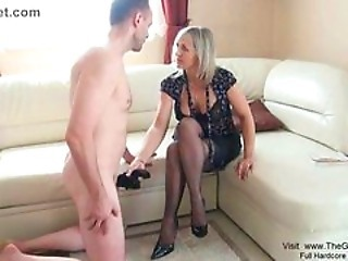 Blonde Handjob Mature