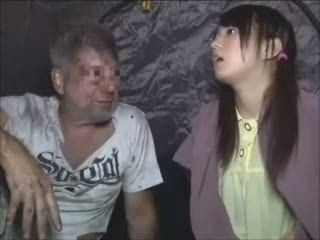 Japanese Girl Having Sex with Homeless Guy