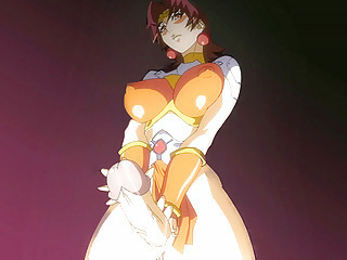 Anime dickgirl with an incredibly huge cock