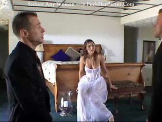Bride Starts Marriage by Fucking TWO