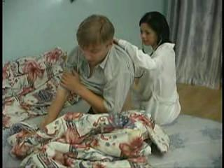 Young Guy Forced Nurse Suck His...