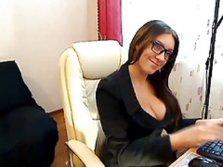 Czech Secretary fingers in stockings Stream Porn