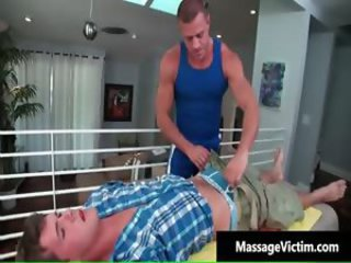Hot oily massage makes this gay horny part1