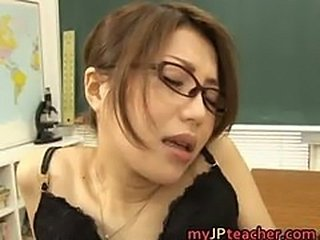 Hot Asian teacher fucks and sucks part1