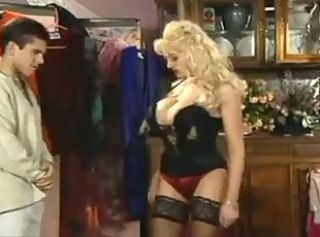 Amazing Big Tits Blonde Lingerie  Pornstar Stockings Vintage
