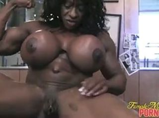 Big Tits Clit Ebony  Muscled