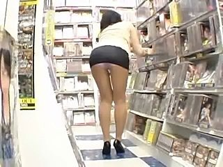 Asian Japanese  Public Stockings Upskirt