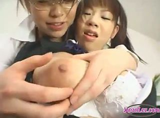 Busty Schoolgirl Getting Her Tits Rubbed Nipples Sucked By Her Teac...