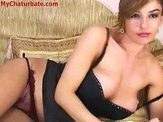 Amazing Lingerie Masturbating  Solo Webcam