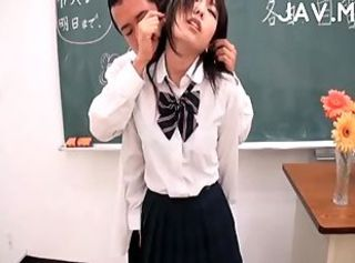 Japanese jerking teacher cock