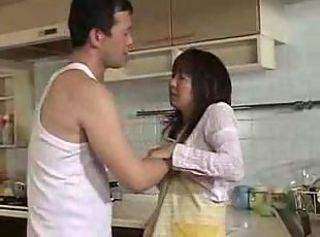 Asian Japanese Kitchen MILF Wife Young
