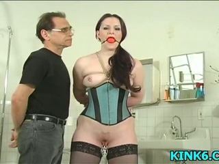 Bdsm Bondage Corset Mature Stockings