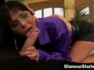Blowjob Brunette  Glasses