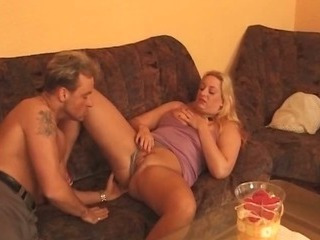 Blonde Chubby Licking Mature