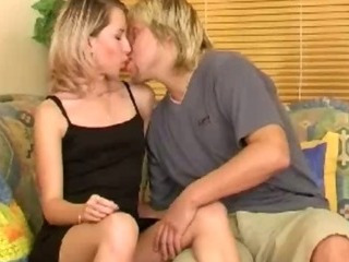 Blonde Kissing Teen