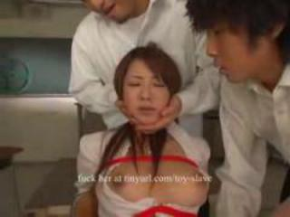 Asian teacher bondage and forced to orgasm